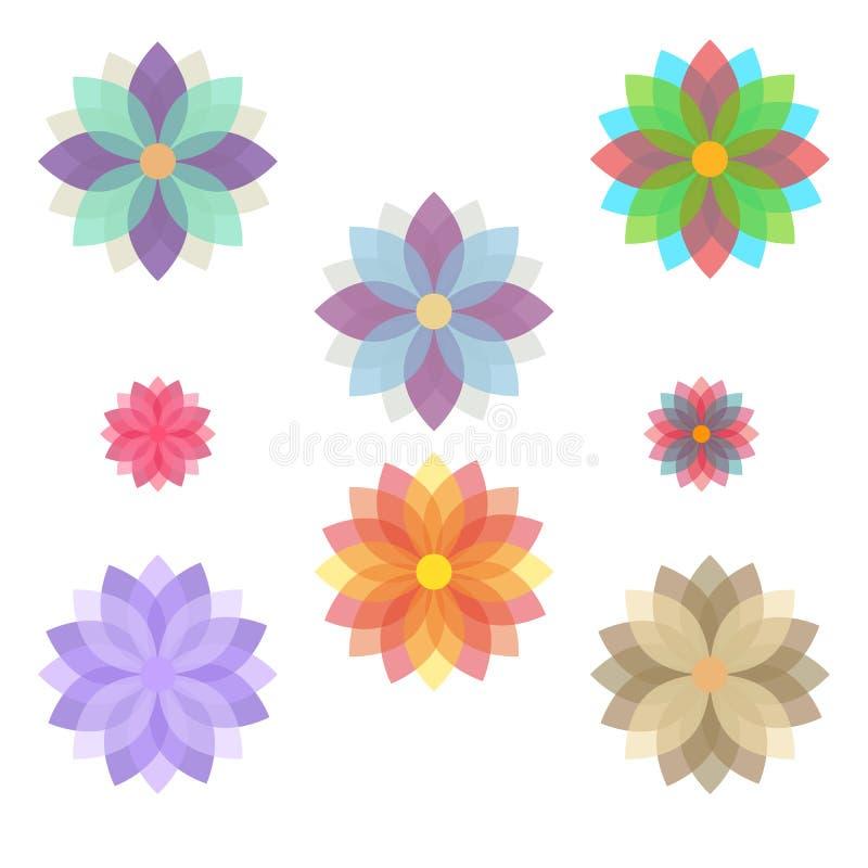 Sistema de las flores estilizadas (floraciones) libre illustration