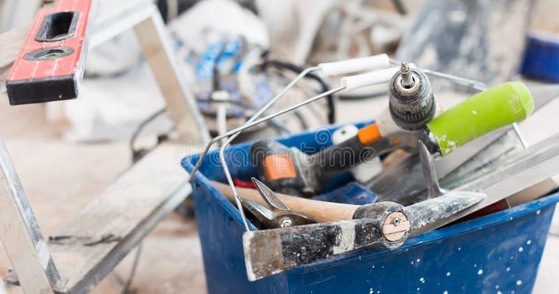 Sistema de las herramientas de la construcción para reparar las premisas fotos de archivo libres de regalías