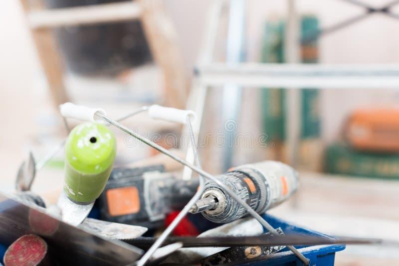 Sistema de las herramientas de la construcción para reparar las premisas imagen de archivo