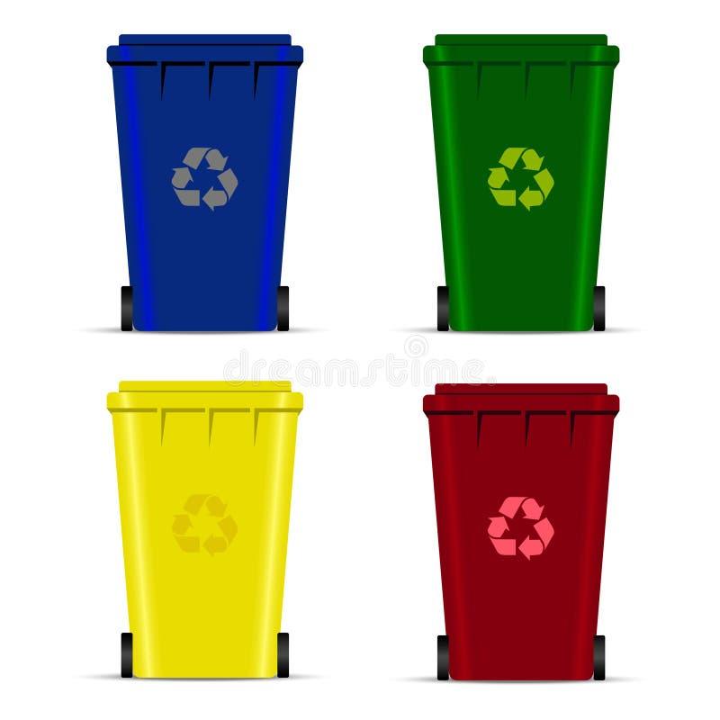 Sistema De Las Papeleras De Reciclaje Para La Basura O La Basura ...