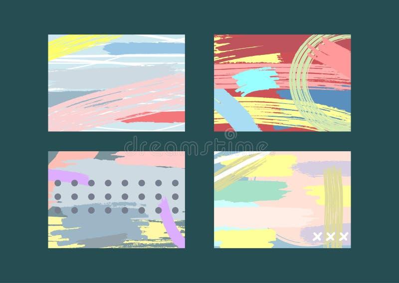 Sistema de las plantillas abstractas para los fondos, aviadores, cubiertas, banderas libre illustration