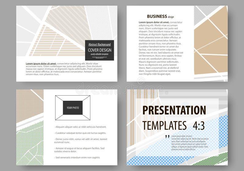 Sistema de las plantillas del negocio para las diapositivas de la presentación Disposiciones editable fáciles Mapa de la ciudad c stock de ilustración