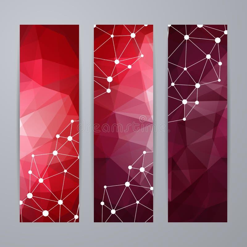 Sistema de las plantillas para las banderas libre illustration