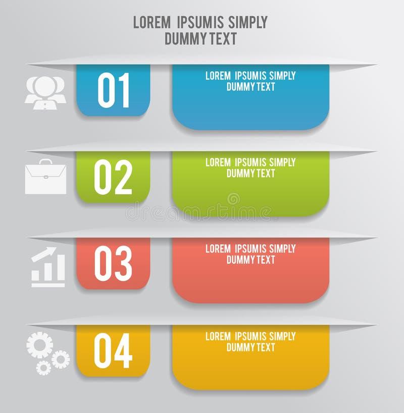 Sistema de las señales, etiquetas engomadas, etiquetas, etiquetas libre illustration
