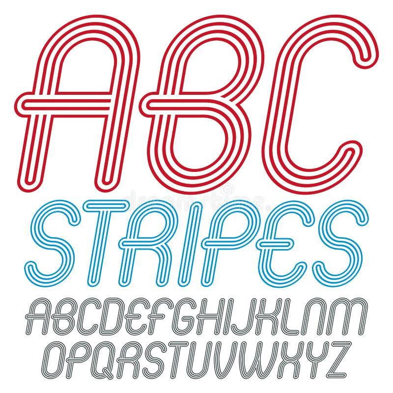 Sistema de letras capitales del alfabeto del vector moderno de moda aisladas d libre illustration
