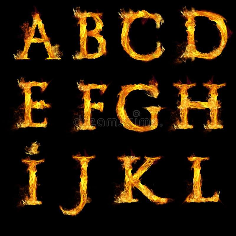 Download Sistema De Letras En Llamas Foto de archivo - Imagen de quemado, capital: 44850080