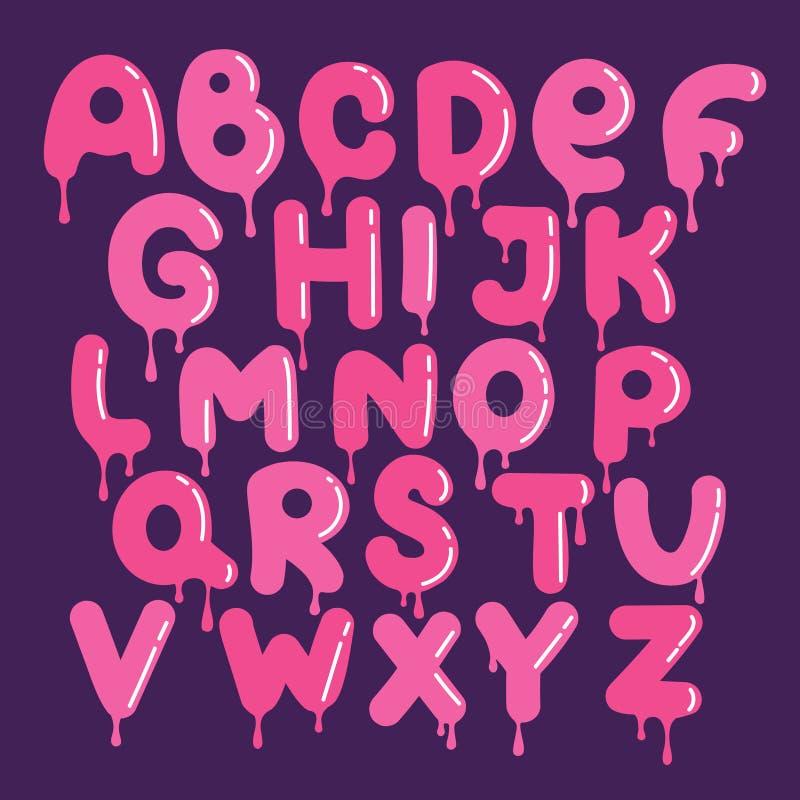 Sistema de letras inglesas decorativas libre illustration