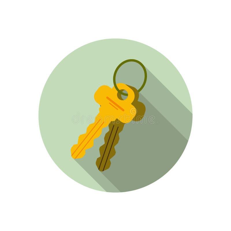 Sistema de 2 llaves, manojo de llaves stock de ilustración
