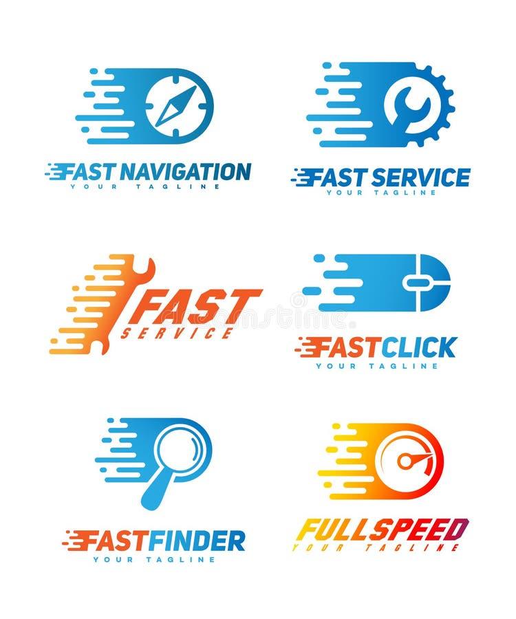 Sistema de logotipos de la tecnología ilustración del vector