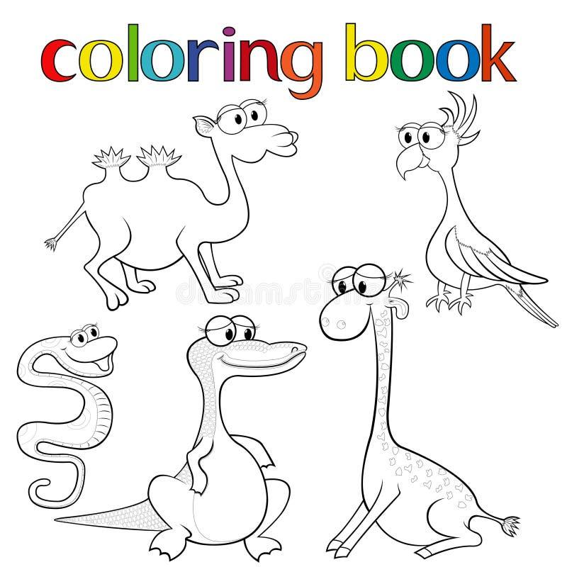 Sistema De Los Animales Para El Libro De Colorear Ilustración del ...