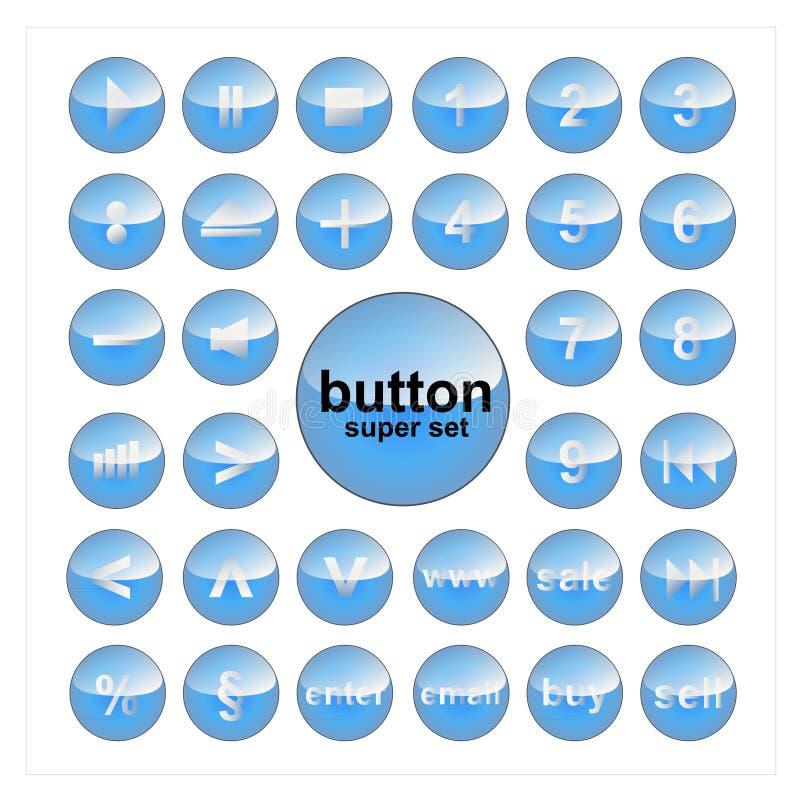 Sistema del botón del vector de los elementos del Web imagenes de archivo
