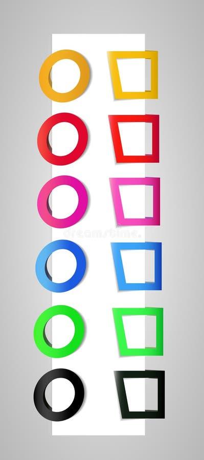 Clips de papel para los Web site imágenes de archivo libres de regalías