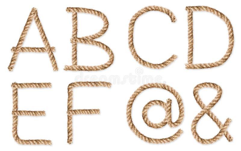 Sistema de los cuerda-caracteres latinos en blanco imagenes de archivo