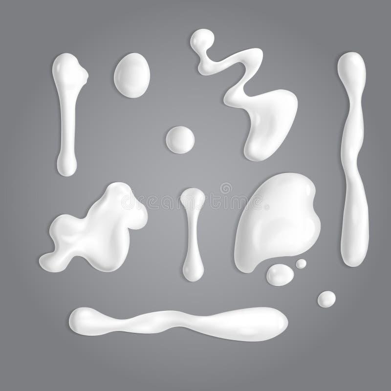 Sistema de los descensos poner crema blancos libre illustration