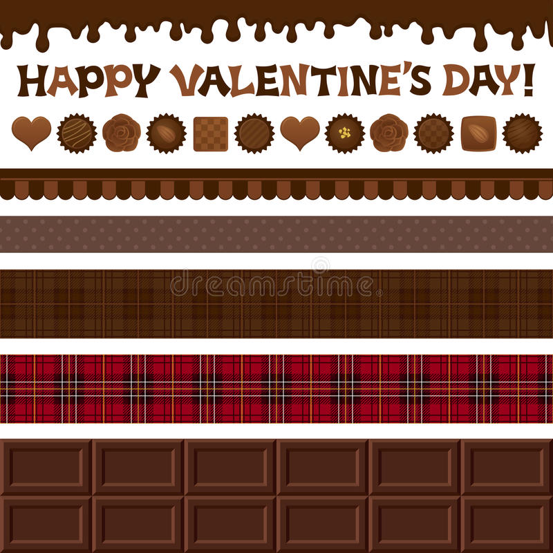 Sistema De Los Ejemplos Del Día De Tarjeta Del Día De San Valentín. Imagenes de archivo