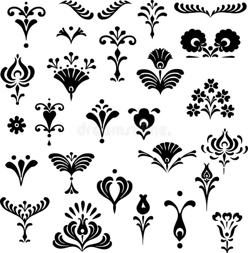 Sistema de los elementos del gráfico de vector para el diseño libre illustration