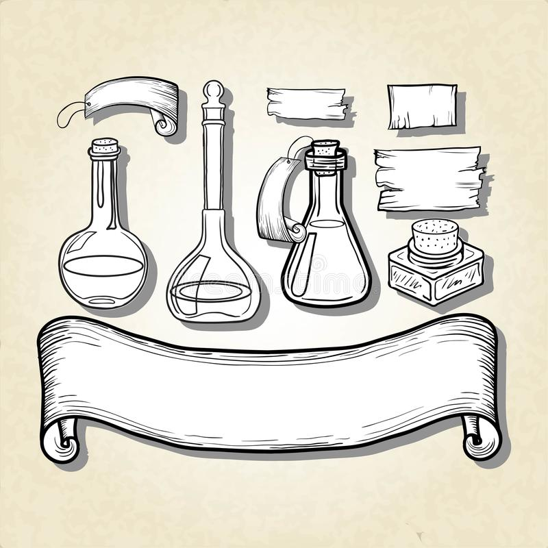 Sistema de los envases de cristal libre illustration
