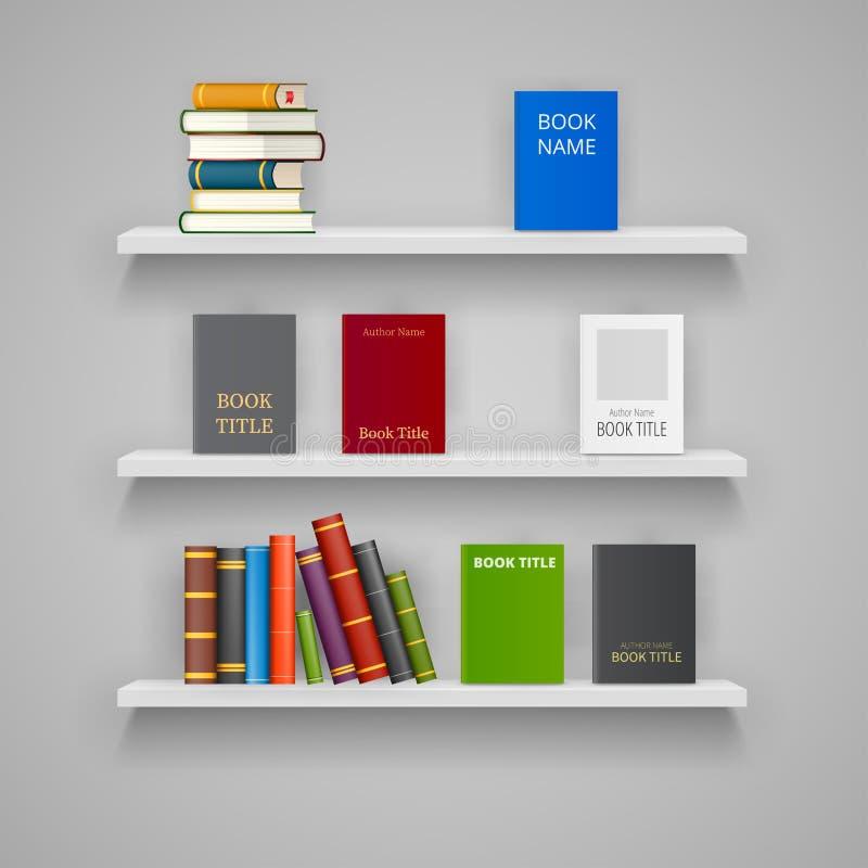 Sistema de los estantes de madera foto de archivo