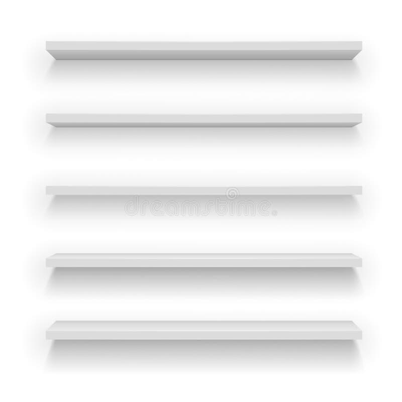 Sistema de los estantes de madera fotografía de archivo
