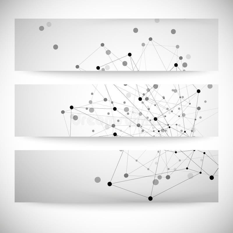Sistema de los fondos grises para la comunicación, ilustración del vector