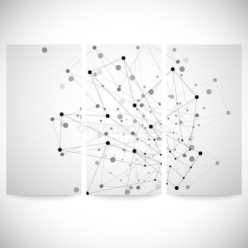 Sistema de los fondos grises para la comunicación, stock de ilustración