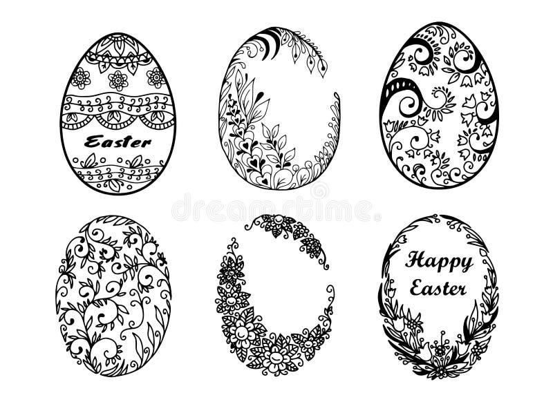 Sistema de los huevos de Pascua del vector stock de ilustración