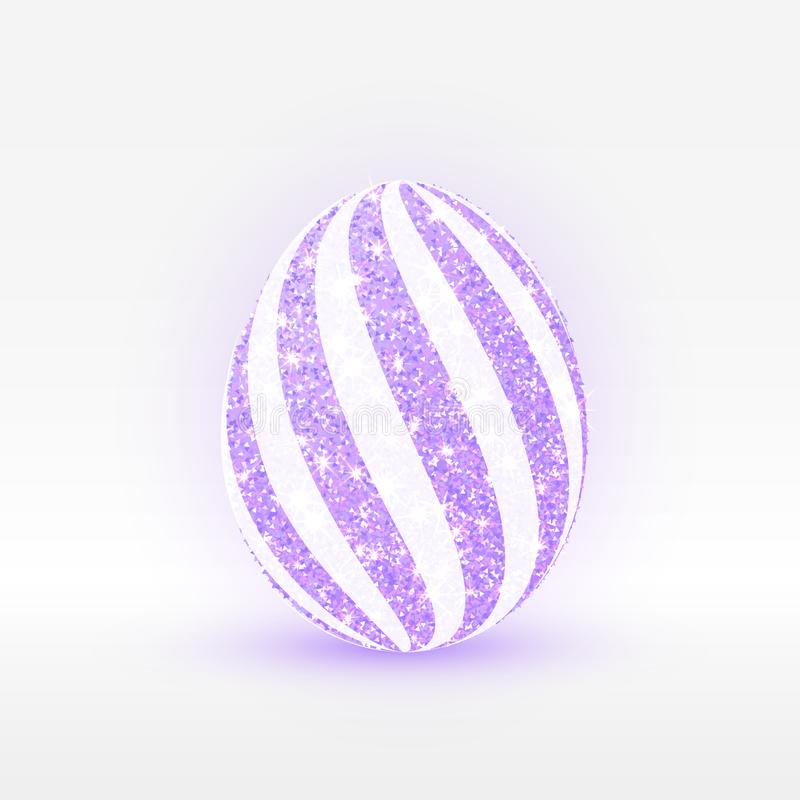 Sistema de los huevos de Pascua Huevo real Ilustración del vector ilustración del vector
