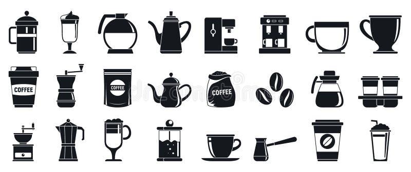 Sistema de los iconos de Barista, estilo simple ilustración del vector