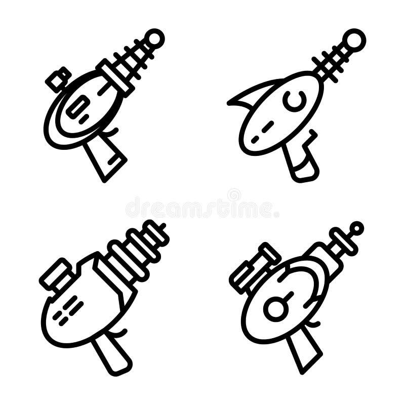 Sistema de los iconos del arenador, estilo del esquema ilustración del vector