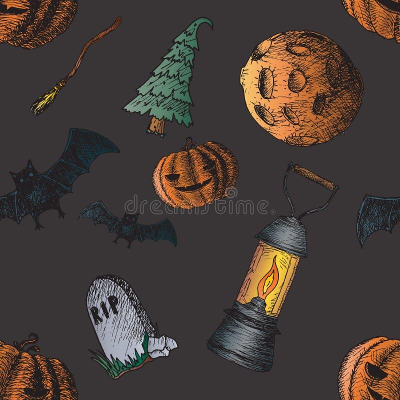 Download Sistema De Los Iconos Para Halloween Ilustración del Vector - Ilustración de halloween, diseño: 64211892