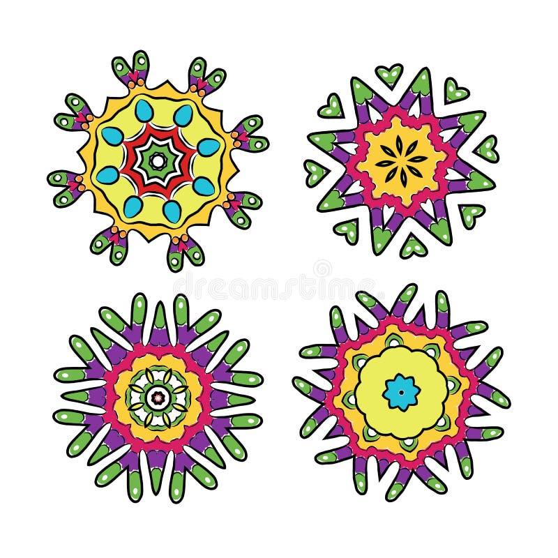 Sistema de los ornamentos florales para su diseño libre illustration