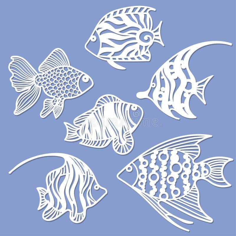 Sistema de los pescados para el corte del laser libre illustration