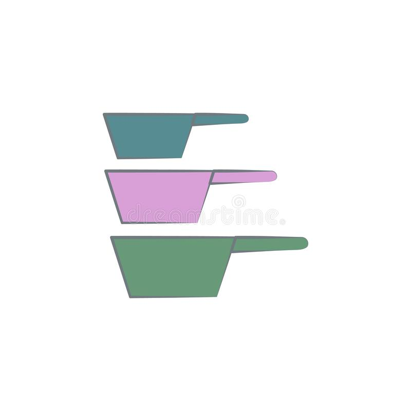 sistema de los tamices para el icono coloreado café Elemento del icono coloreado del café para los apps móviles del concepto y de libre illustration
