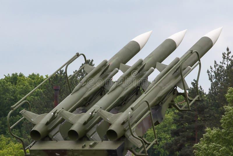 Sistema de mísseis antiaéreo imagens de stock