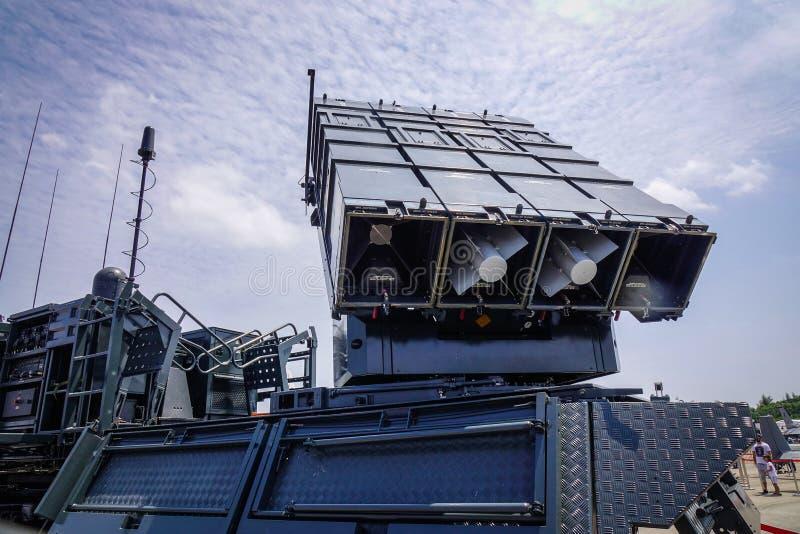 Sistema de mísseis terra-ar de SPYDER imagem de stock