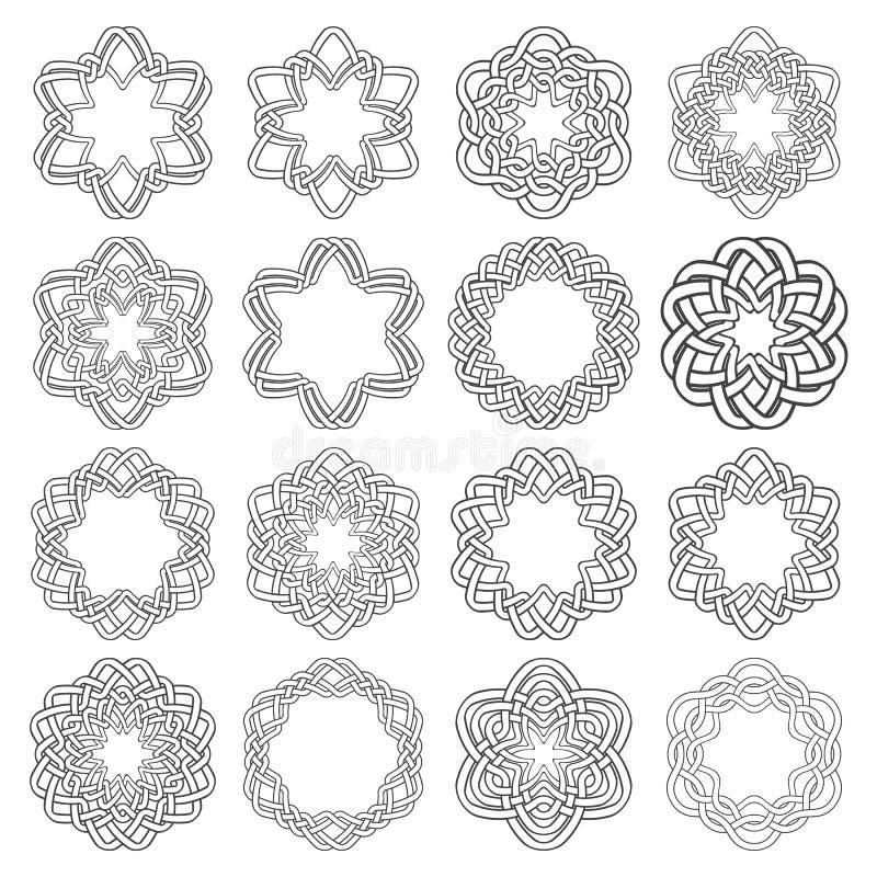 Sistema de magia que anuda círculos ilustración del vector