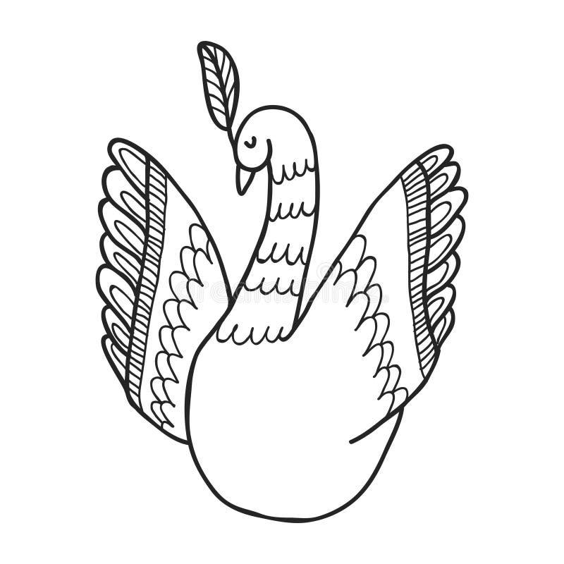 Sistema de Maharajá Garden Pájaro Página que colorea ilustración del vector