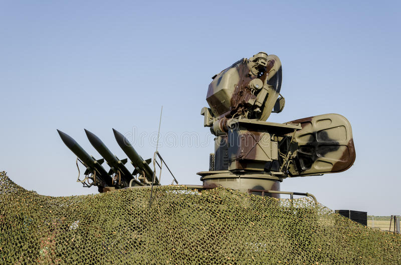 Sistema de misiles anti de los aviones foto de archivo libre de regalías