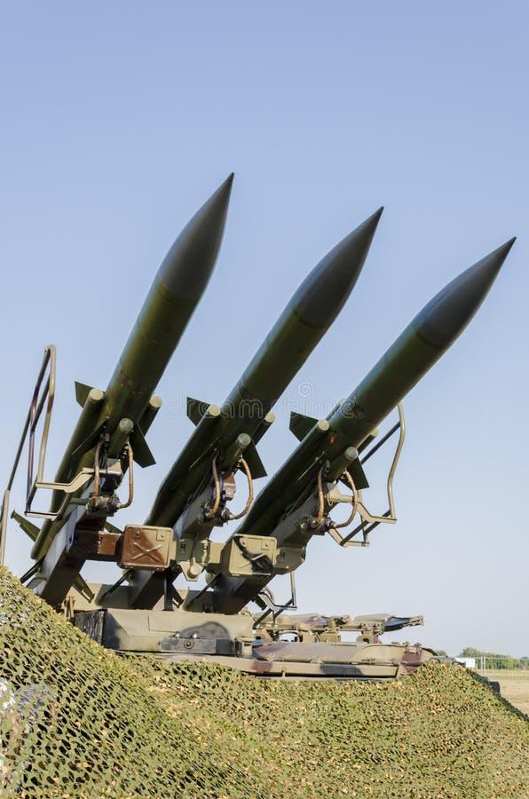 Sistema de misiles anti de los aviones foto de archivo