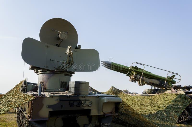 Sistema de misiles anti de los aviones imagen de archivo libre de regalías