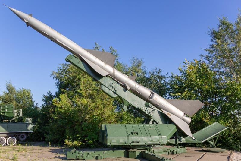 Sistema de misiles antiaéreo móvil soviético foto de archivo