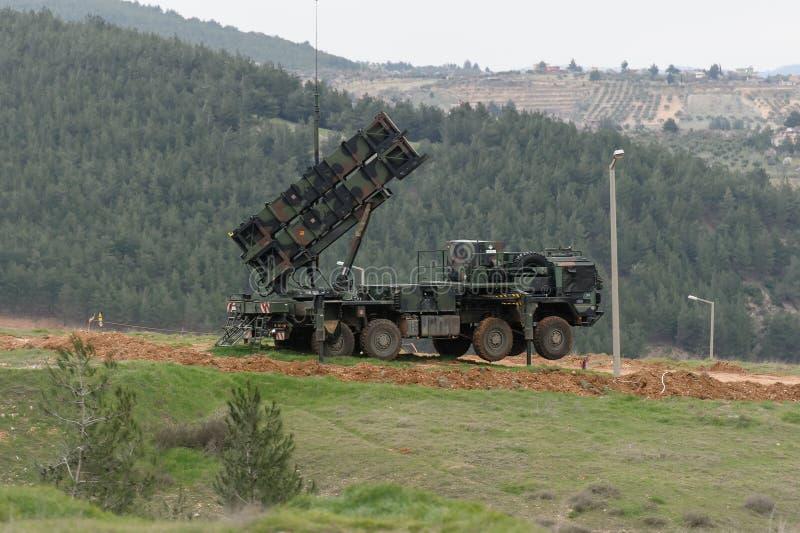 Sistema de misiles del patriota fotos de archivo libres de regalías