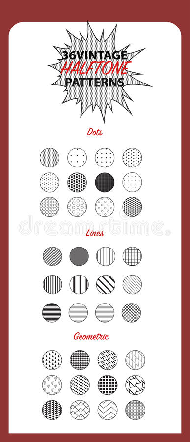 Sistema de 36 modelos abstractos ilustración del vector