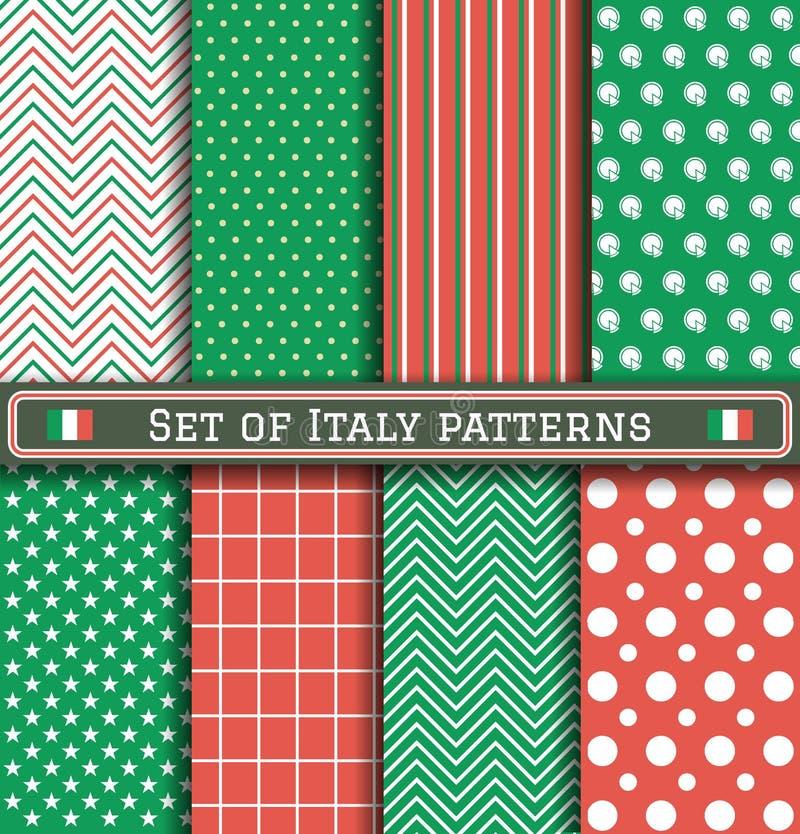 Sistema de modelos del Día de la Independencia de Italia stock de ilustración