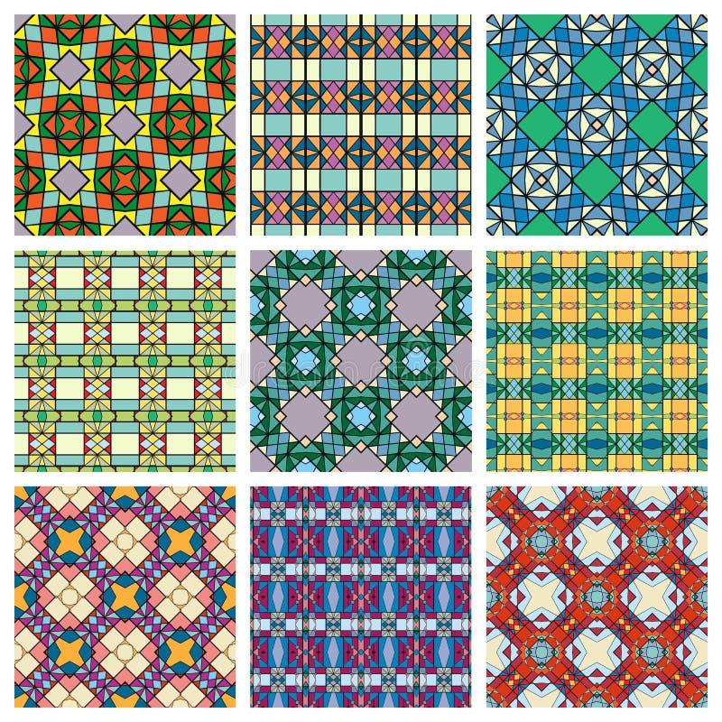 Sistema de modelos geométricos inconsútiles, diseño stock de ilustración