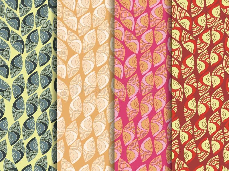 Sistema de modelos inconsútiles étnicos Modelo inconsútil indio El modelo para el papel pintado, las tejas, las telas y los diseñ ilustración del vector