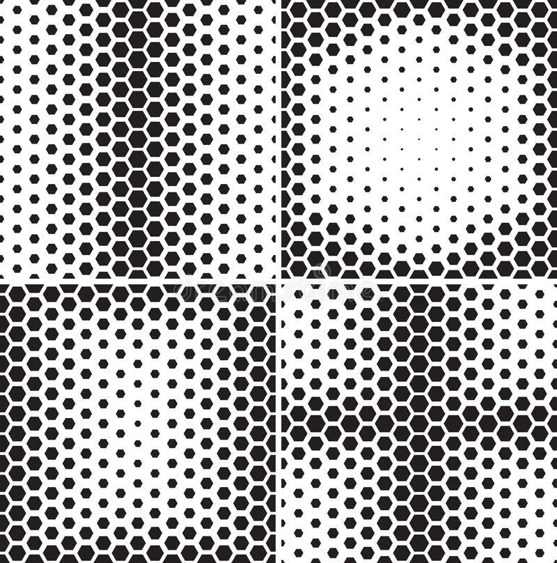 Sistema de modelos inconsútiles con pendientes de los hexágonos libre illustration