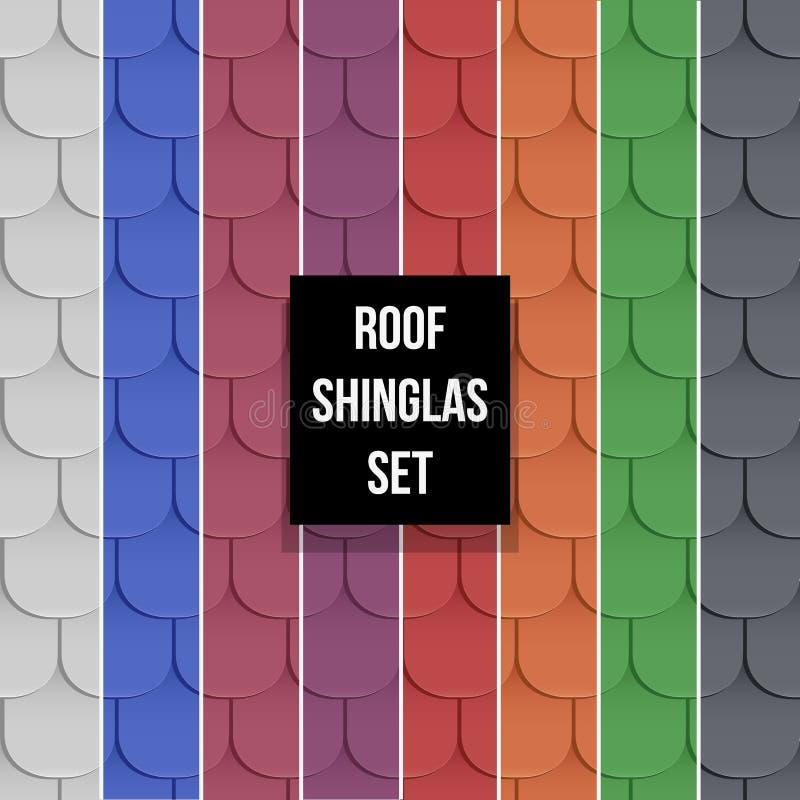 Sistema de modelos inconsútiles del tejado de las tablas stock de ilustración