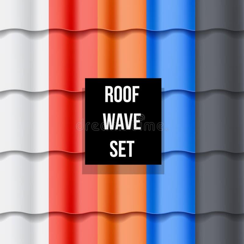 Sistema de modelos inconsútiles del tejado Tiled libre illustration