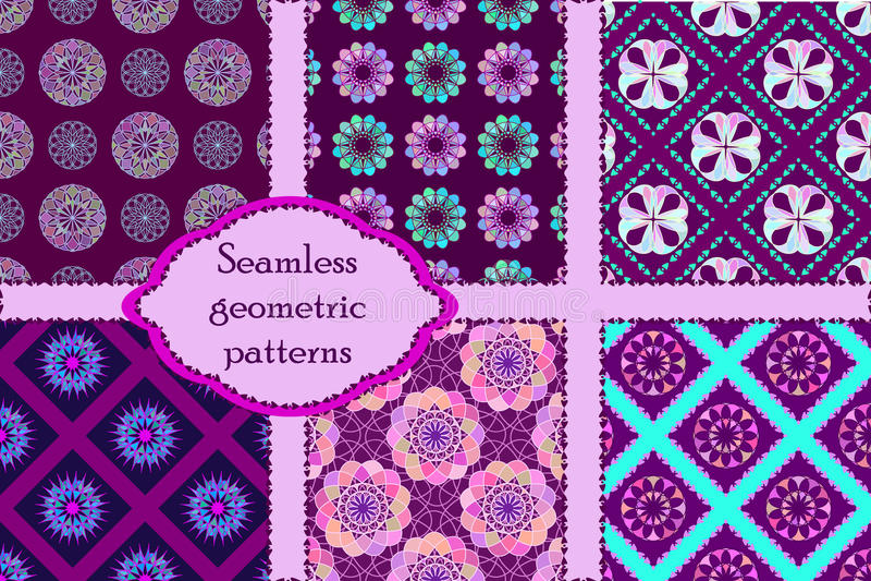 Sistema de 6 modelos inconsútiles geométricos libre illustration